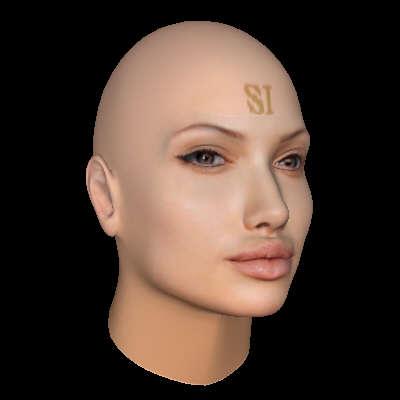 angelina jolie face profile. FaceGen: Angelina Jolie