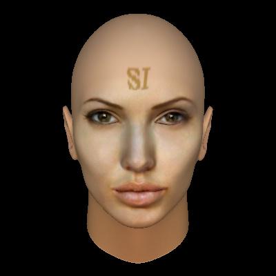 angelina jolie face profile. FaceGen: Angelina Jolie #4