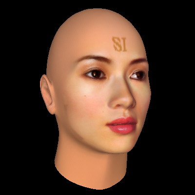 Zhang Ziyi, rendered using FaceGen